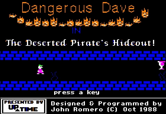 Dangerous Dave in the Deserted Pirate's Hideout ( Apple II )