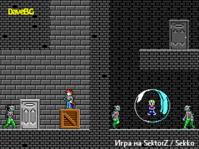 Dangerous Dave in Zombies ate Commander Keen! ( Bulgarian version )