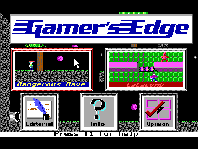 Gamer's Edge Sampler – Dangerous Dave and Catacomb