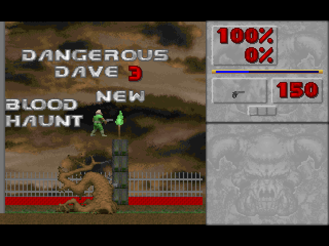 Doom 2D Haunted in Mansion ( Doom 2D Mod )